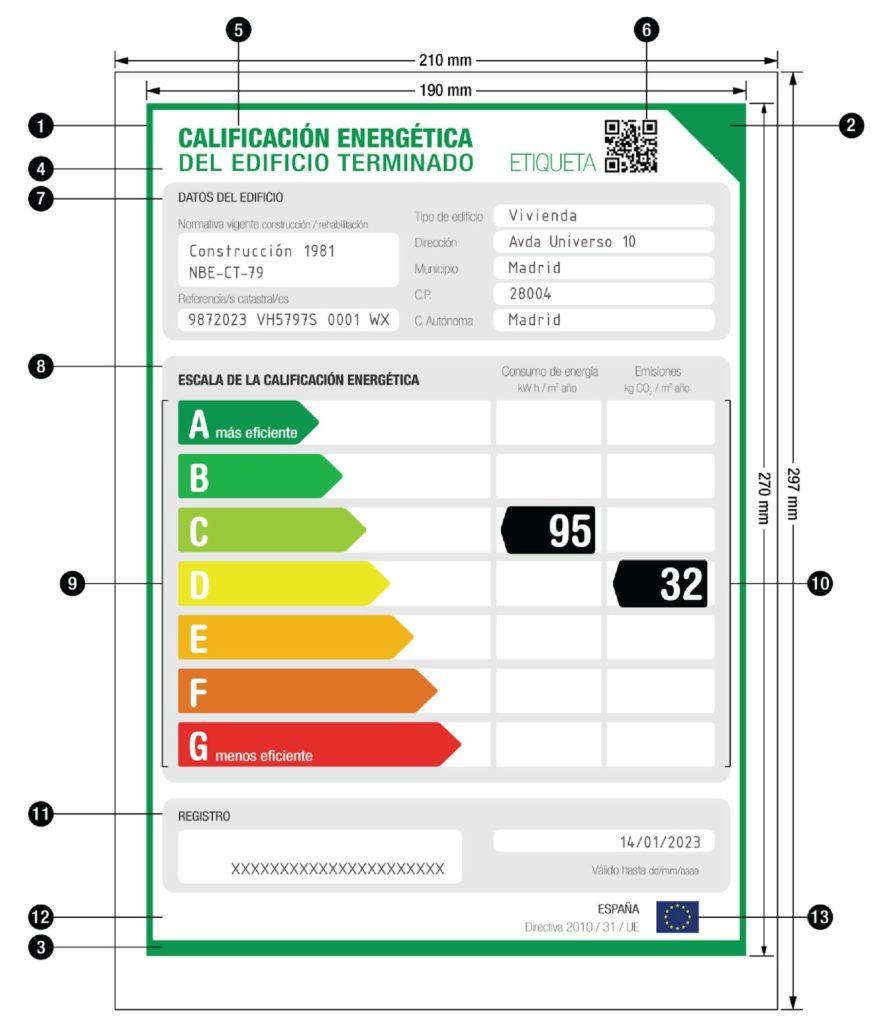 etiqueta certificacion energia