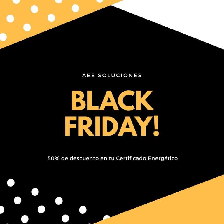 Black Friday, descuento del certificado energético con AEE Soluciones