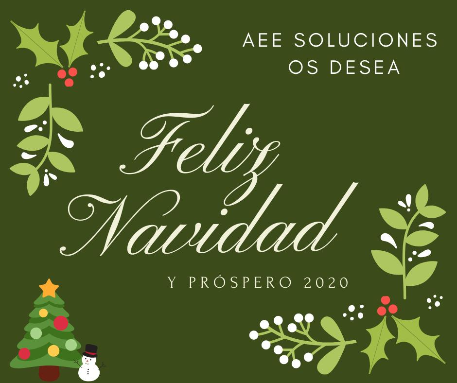 AEE Soluciones desea Feliz Navidad
