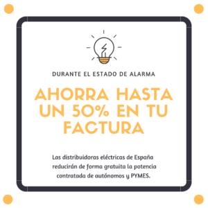 Las distribuidoras eléctricas de España reducirán de forma gratuita la potencia contratada de autónomos y PYMES